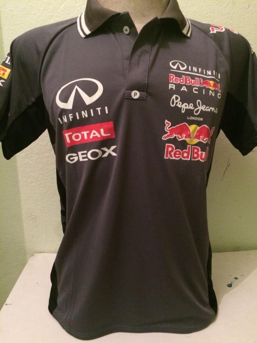 camisa camiseta polo formula 1 f1 red bull corrida cinza. Carregando zoom. e2e19aed985
