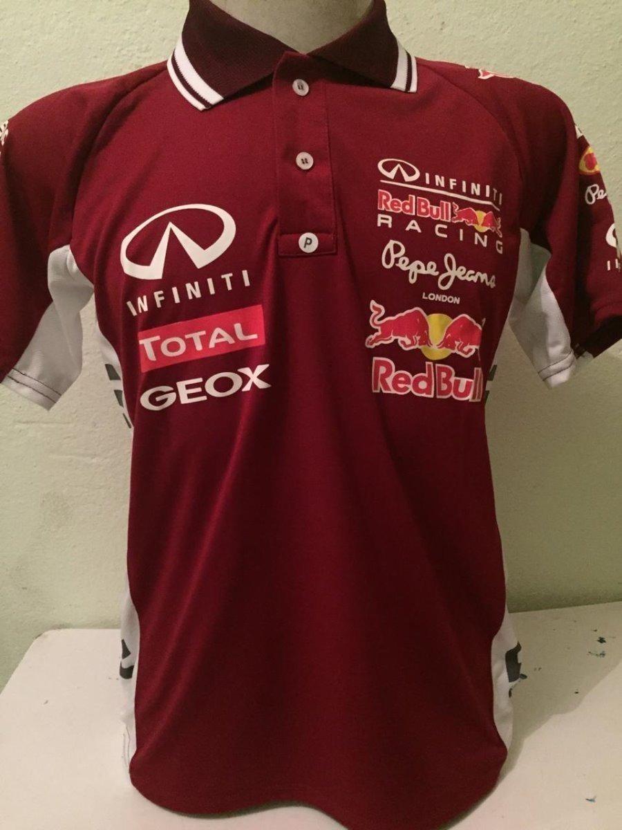 camisa camiseta polo formula 1 f1 red bull corrida vinho. Carregando zoom. d0e23eebf6f
