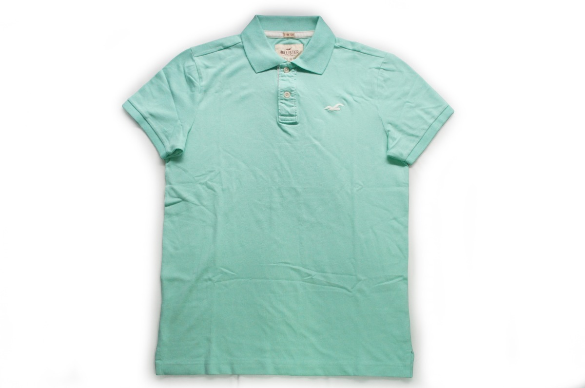 camisa camiseta polo hollister epic flex stretch verde m. Carregando zoom. ed783ae1ef674