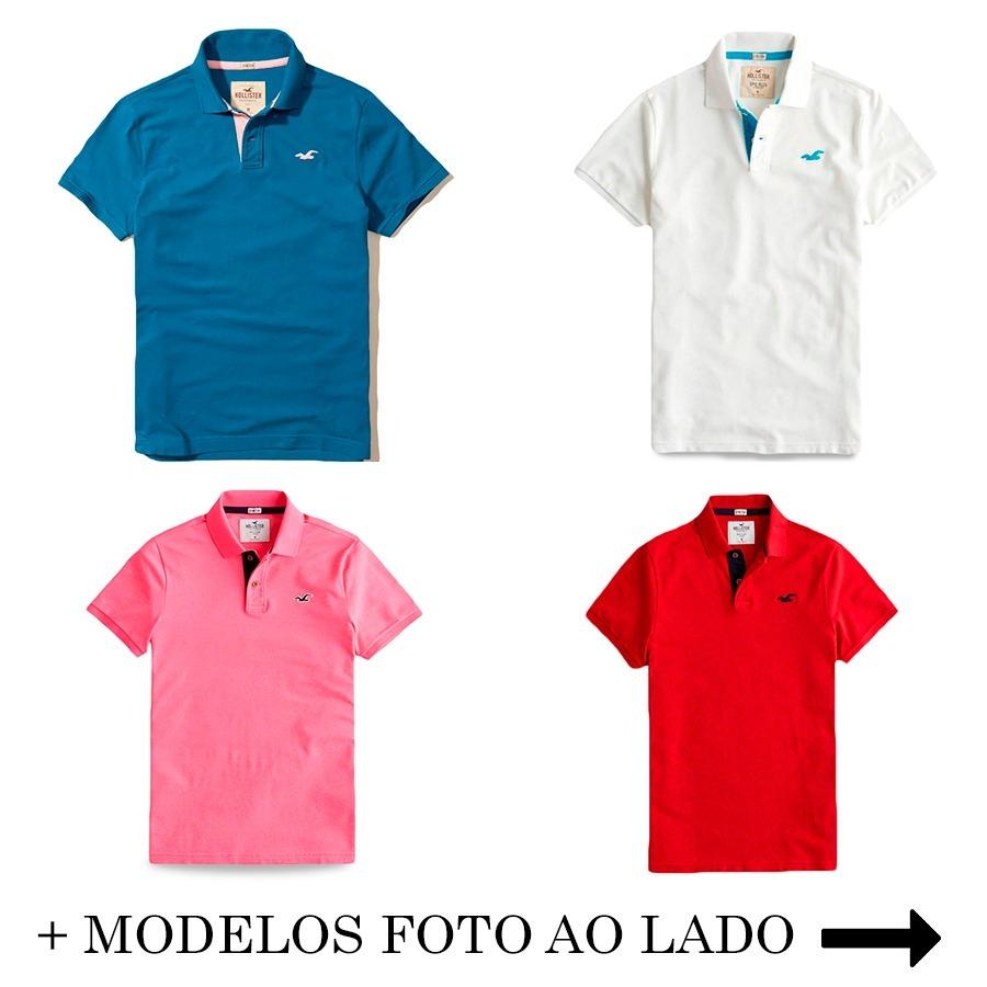 8a10ba8836022 camisa camiseta polo hollister epicflex 100%original masc. Carregando zoom.