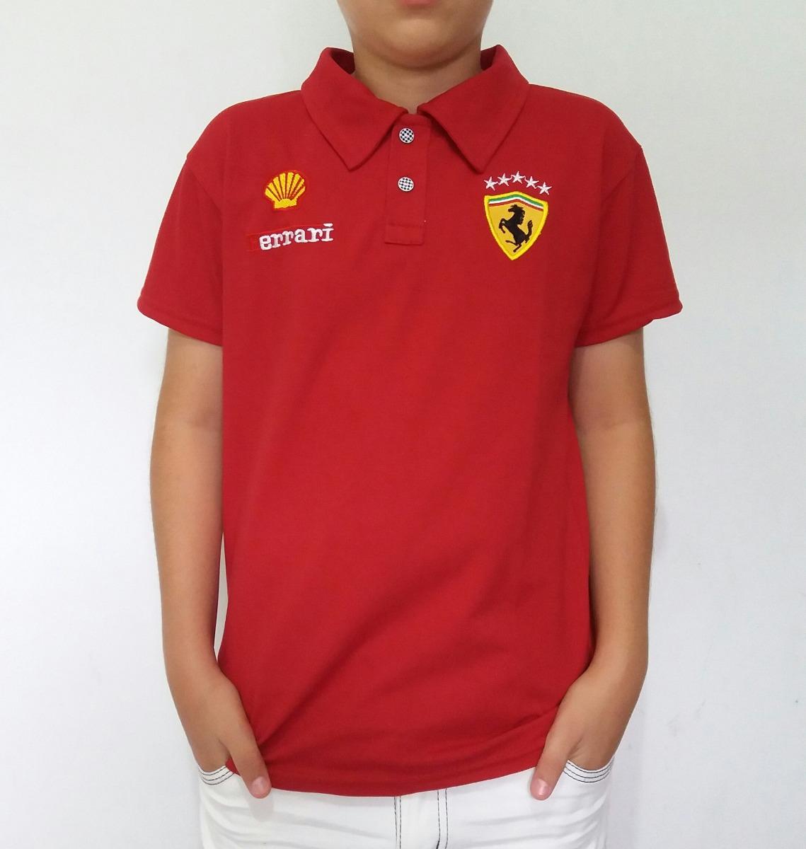 89f5813054 ... Camisa Camiseta Polo Infantil Ferrari Do 2 Ao 14 Anos - R 39