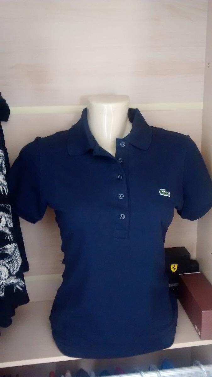 Camisa Camiseta Pólo Lacoste Feminina Original! - R  149,90 em ... cd3f48a74d