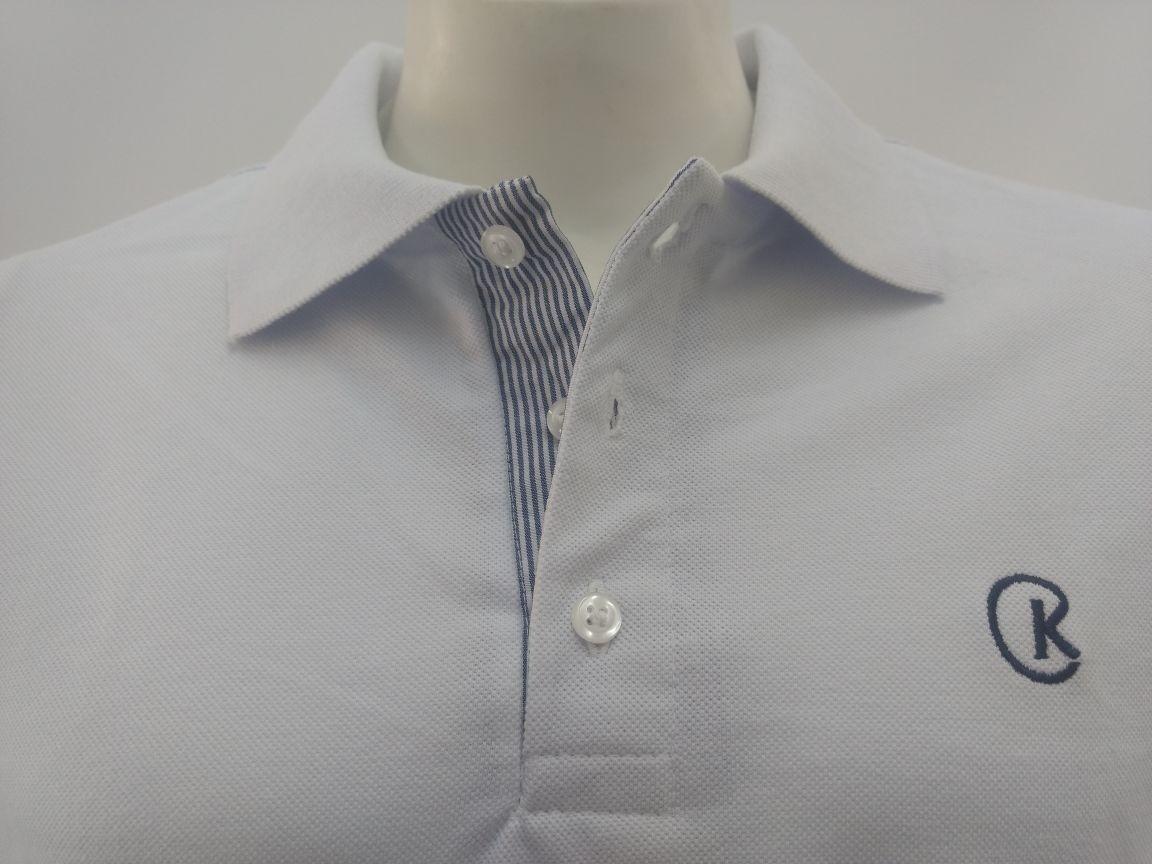 78579edd1d camisa camiseta polo masculina branca piquet cekock. Carregando zoom.