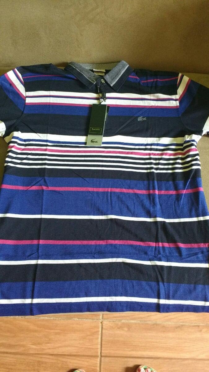 camisa camiseta polo masculina lacoste listrada original top. Carregando  zoom. f42996f9de347