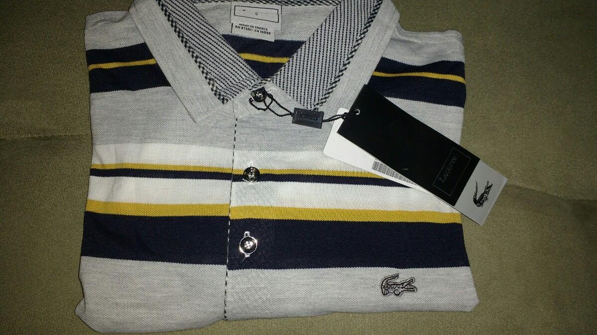 camisa camiseta polo masculina lacoste original listrada. Carregando zoom. 002b4d5dc2242