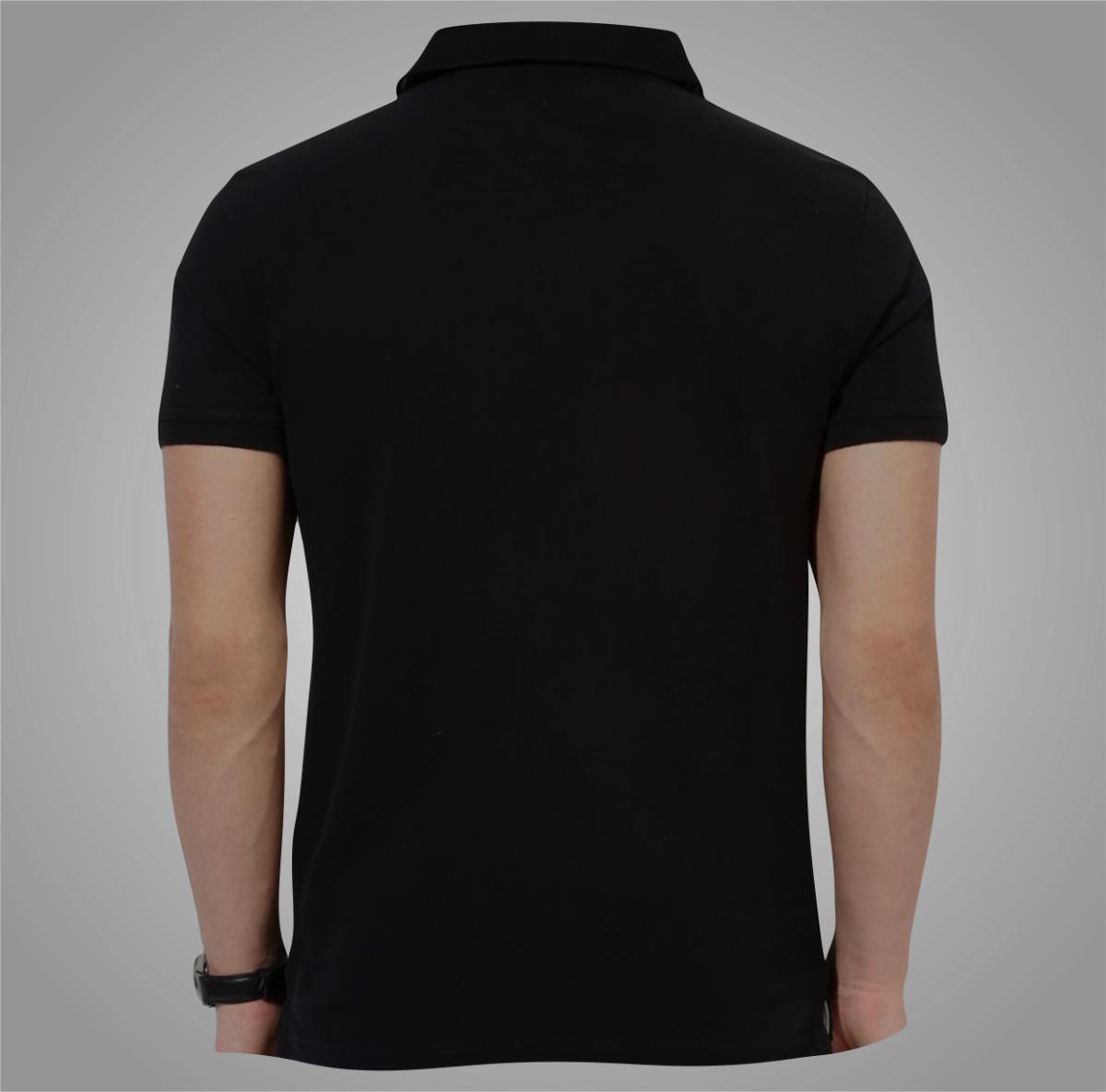 5fd633b105a330 Camisa Camiseta Polo Preta Masculino Ou Feminino Baby Look - R$ 44 ...