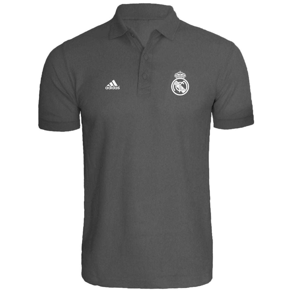 507ccc0844ff3 Camisa Camiseta Polo Real Madrid Personalizado - R  39