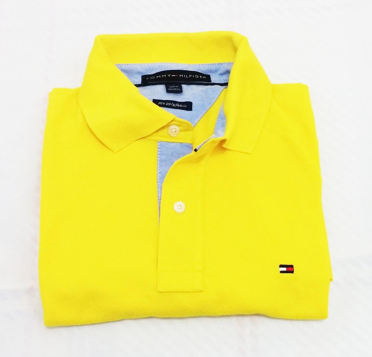 4a0fbae8d699b camisa camiseta polo tommy hilfiger amarela. Carregando zoom.
