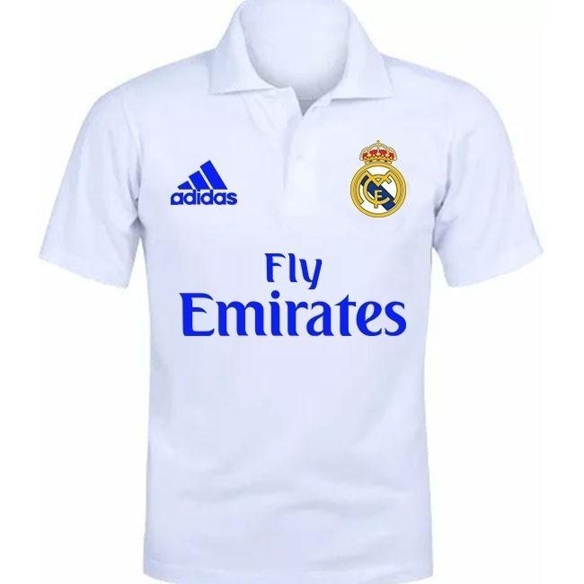 ba83d44eb7 Camisa Camiseta Polo Torcedor Real Madrid Lançamento 01 - R  45
