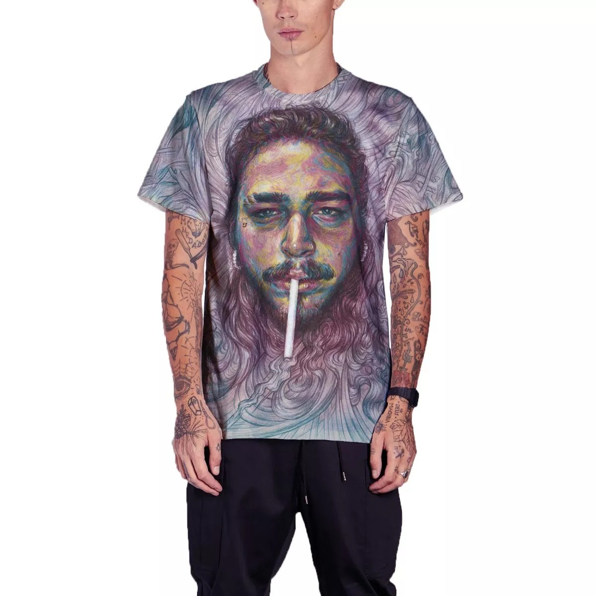 05fa052a1 camisa camiseta post malone cantor rap hip hop. Carregando zoom.