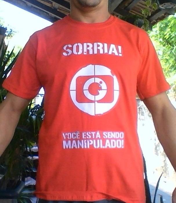Camisa Camiseta Protesto Rede Globo - Sorria- Preta Vermelha - R  44 ... dcd5588a803
