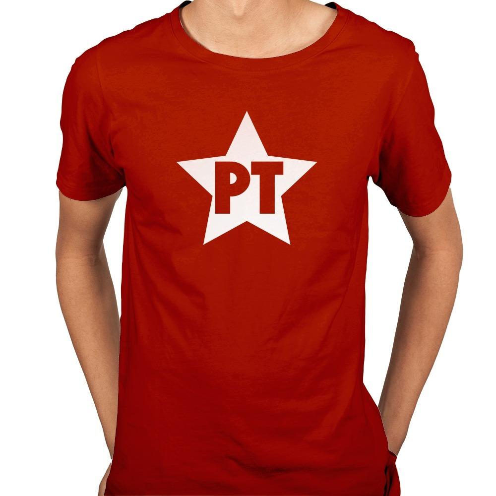 ecc53b48bf camisa camiseta pt partido dos trabalhadores retrô - 6 cores. Carregando  zoom.