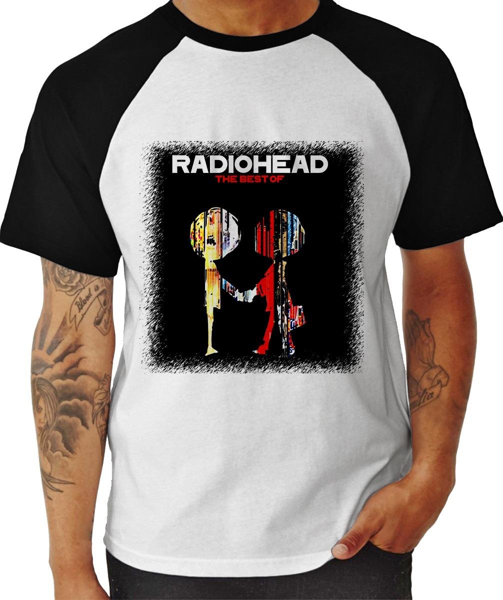 e92155a19676c camisa camiseta radiohead the best of - raglan masculina. Carregando zoom.
