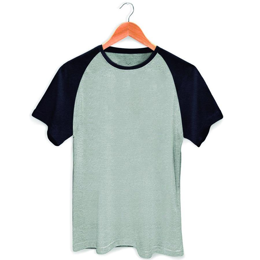 d6518f4ee camisa camiseta raglan lisa unissex casual 100% algodão. Carregando zoom.