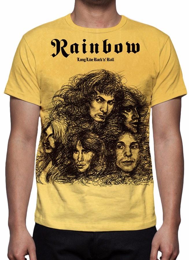f458819f1 Camisa, Camiseta Rainbow - Long Live Rock N Roll - R$ 49,90 em ...
