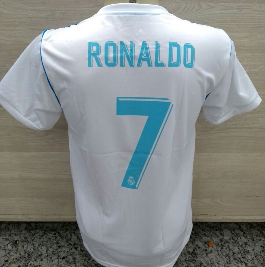 e8e8ef9384061 camisa camiseta real madri uniforme cristiano ronaldo cr7. Carregando zoom.