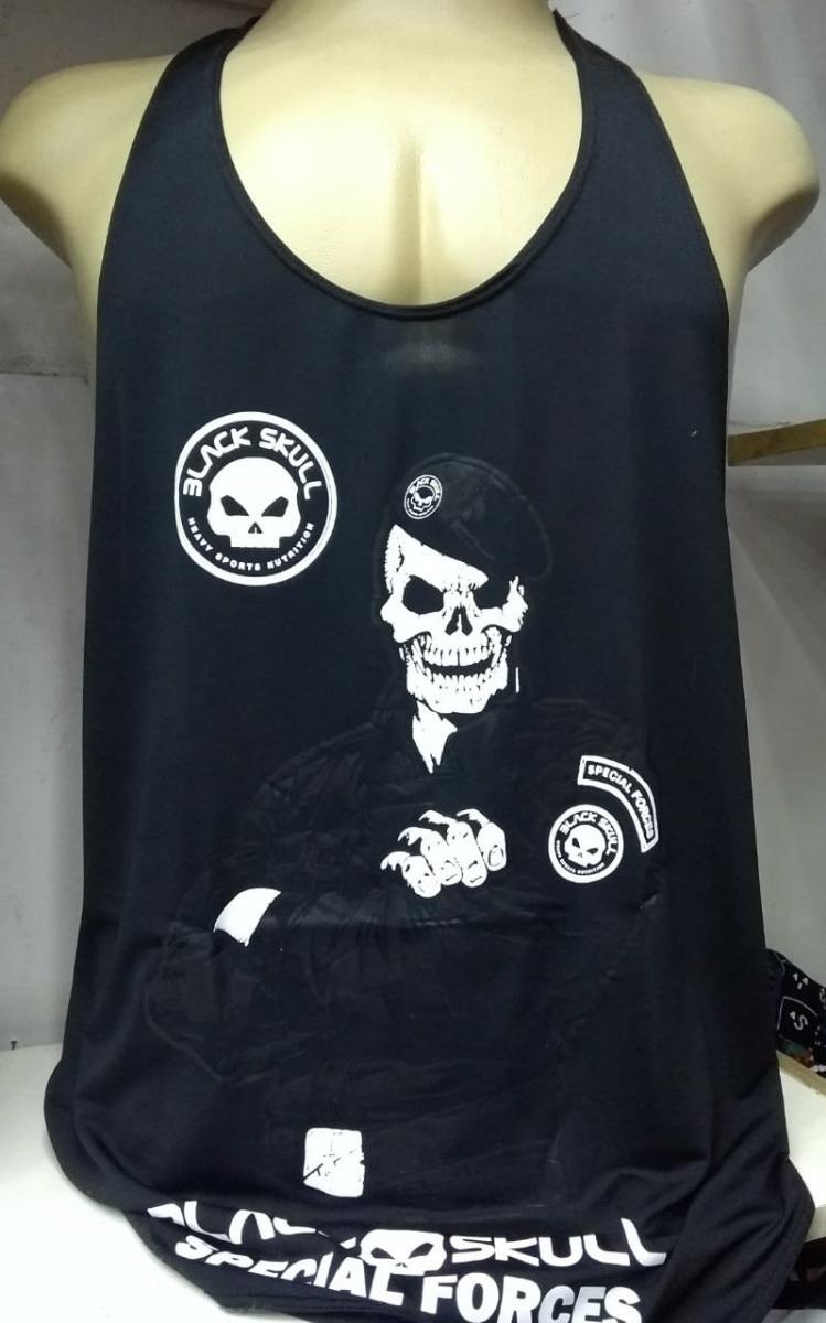 44bf6d89e258e camisa camiseta regata dry fyt black skull treino. Carregando zoom.
