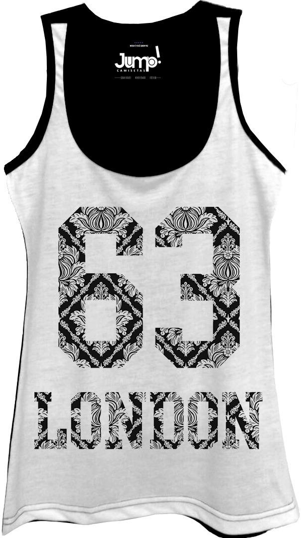 camisa camiseta regata feminina london 63 floral. Carregando zoom. 24608485ca6