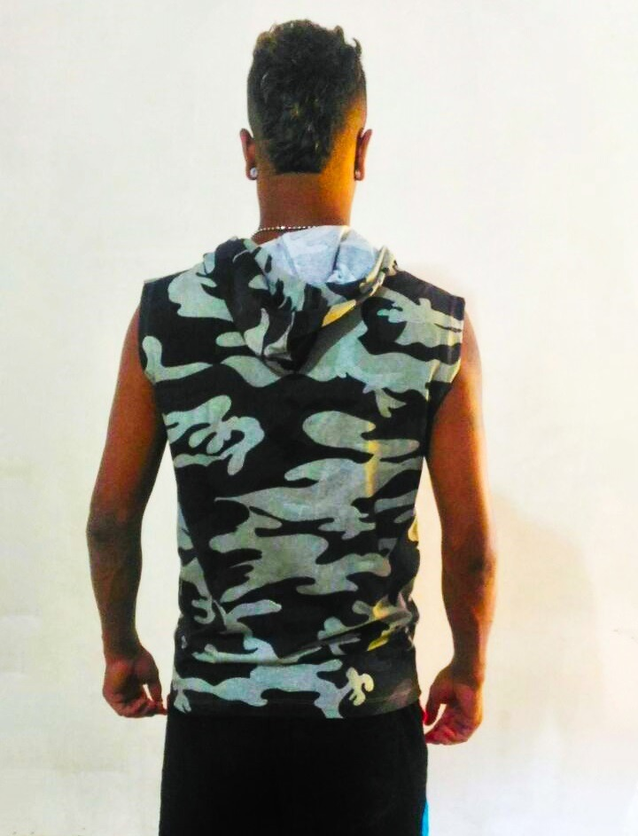 camisa camiseta regata homem machão com toca com ziper capuz. Carregando  zoom. 6a81d641cff