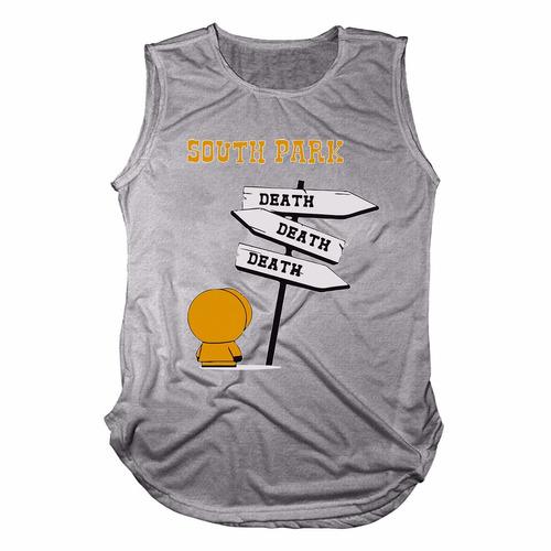 camisa camiseta regata long line south park death kenny top