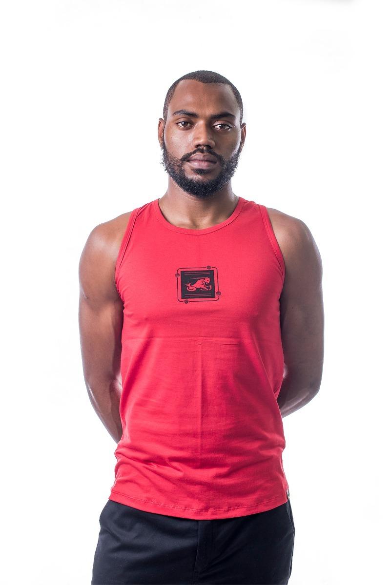 401a530dd camisa camiseta regata masculina estampada machão vermelha. Carregando zoom.