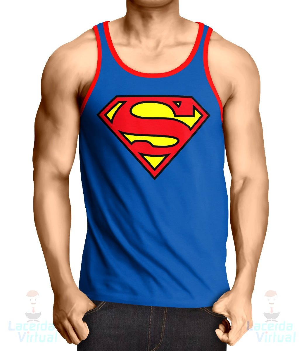 58f22f6cf ... camiseta regata superman logo. Carregando zoom.