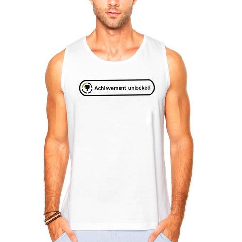 Camisa Camiseta Regata Xbox360 Achieviment Unlocked Promoç - R  39 ... 5d410b59a4b