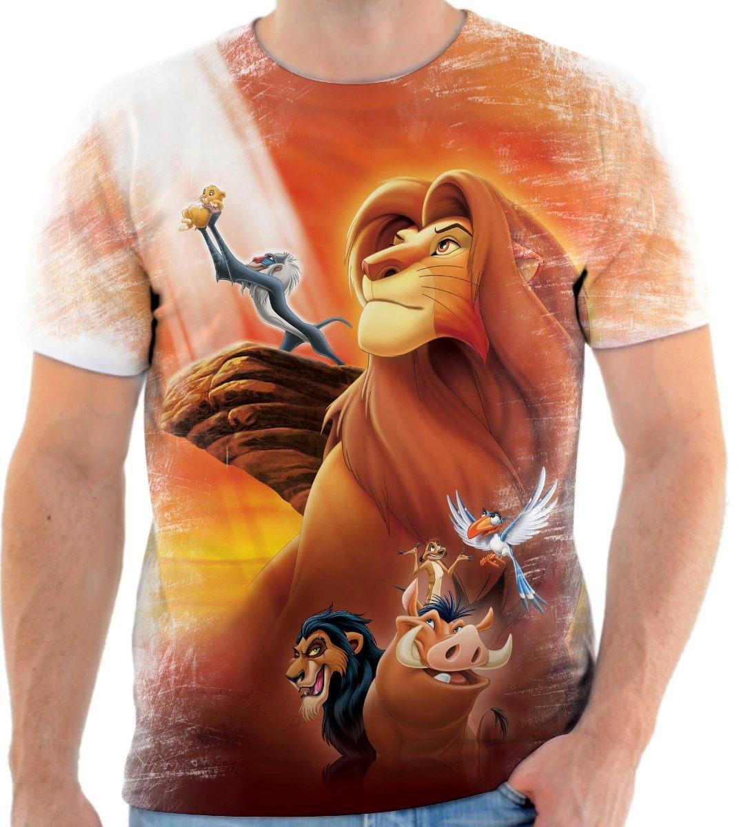 6002a20ee809d Camisa Camiseta Rei Leão