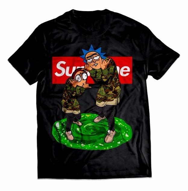 331f57058 Camisa Camiseta Rick And Morty Supreme Diamond Grizzly Swag - R  44 ...
