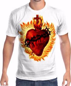 a2b4045de0 Vitral Sagrado Coração De Jesus Tamanho G - Camisetas Manga Curta no ...
