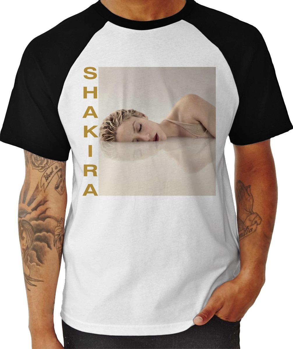 camisa camiseta shakira el dorado world tour brazil - raglan. Carregando  zoom. bb876c11a8c