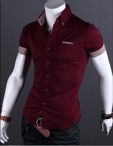 camisa camiseta slim fit hombre lines promoción!