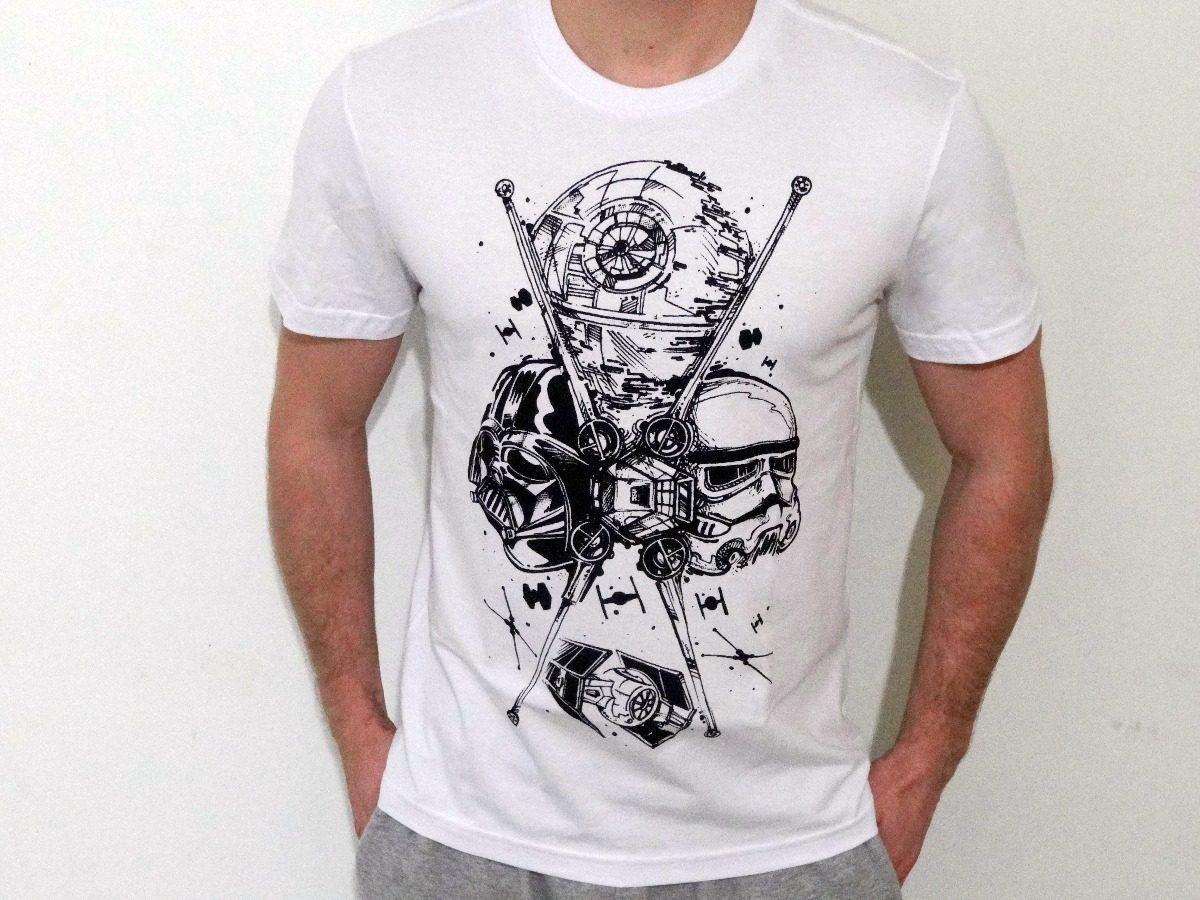 Camisa Camiseta Star Wars Darth Vader Clone Estrela Da Morte - R  40 ... 5d5a798bd6cca