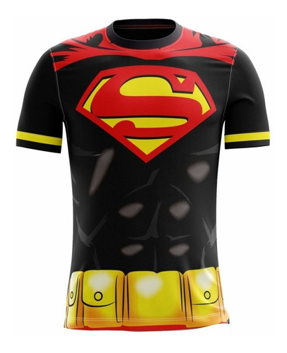 camisa camiseta super homem infantil masculina roupas herois