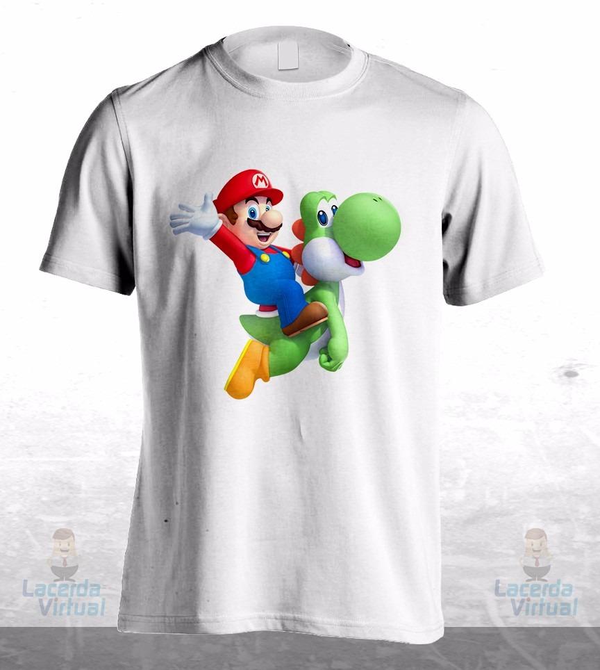 Camisa, Camiseta Super Mario Bros E Yoshi - R$ 54,90 em Mercado Livre