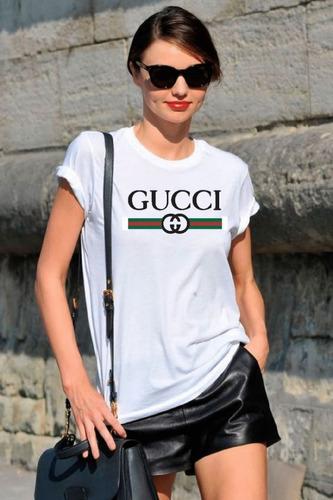 camisa camiseta t shirt basica feminina gucci promoção