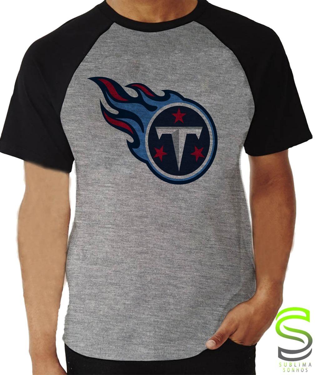 fb74277f4 camisa camiseta tennessee titans nfl raglan cinza mescla. Carregando zoom.