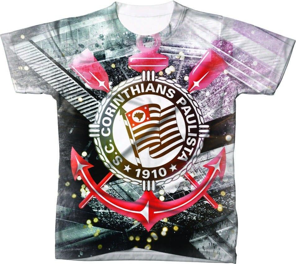 camisa camiseta time de futebol arte timão corinthians 1. Carregando zoom. 0e535040b56af