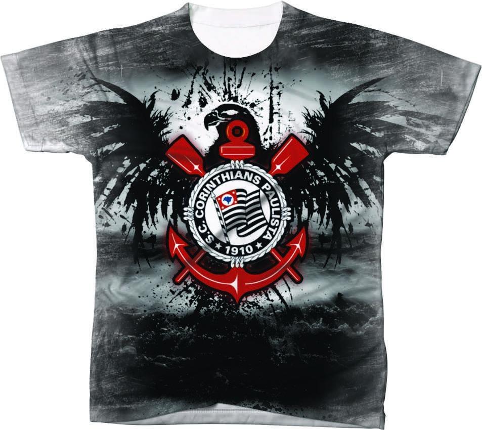 camisa camiseta time de futebol arte timão corinthians 3. Carregando zoom. 6e49f7ea68e70