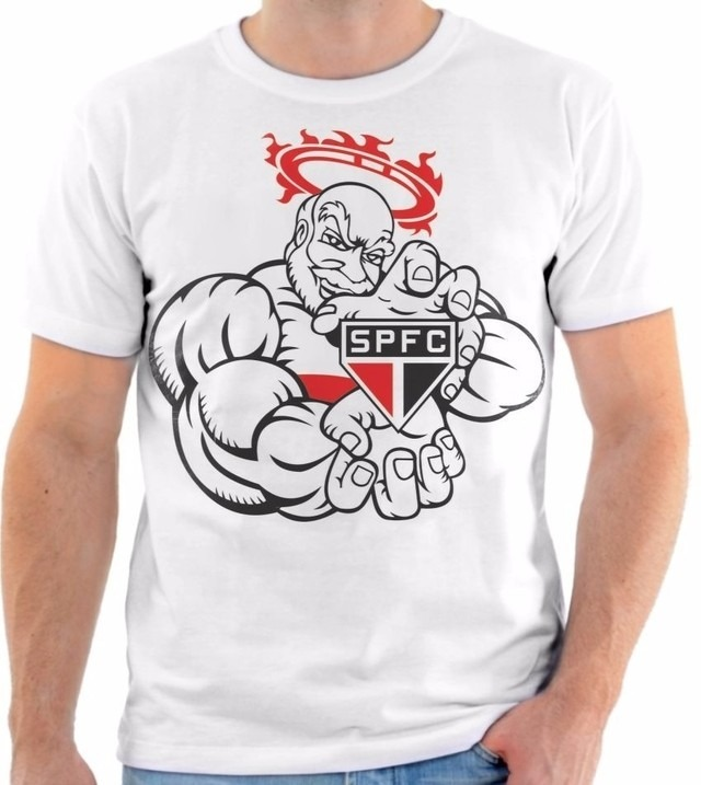 ef199444c Camisa Camiseta Time São Paulo Futebol Clube Mascote - R  50