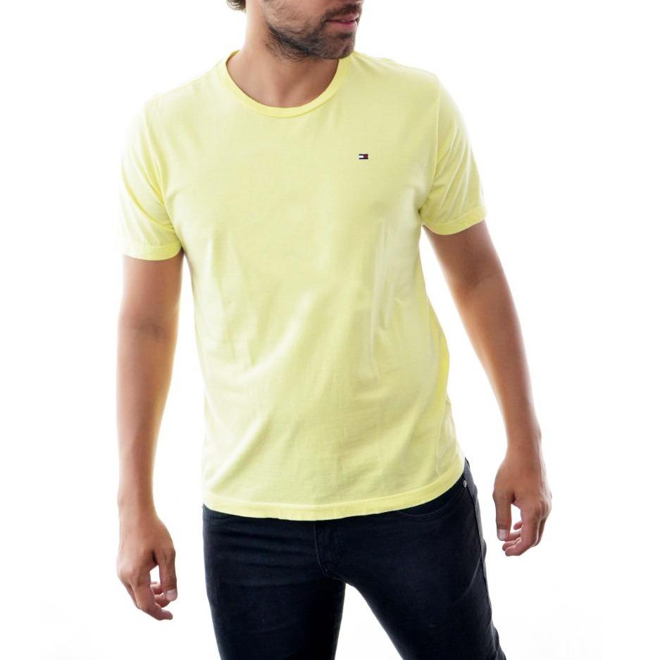 camisa camiseta tommy hilfiger masc amarelo claro basica. Carregando zoom. ce7777e9820