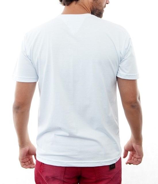 2f1709901 Camisa Camiseta Tommy Hilfiger Masc Slim Fit Branco Basica - R  69 ...