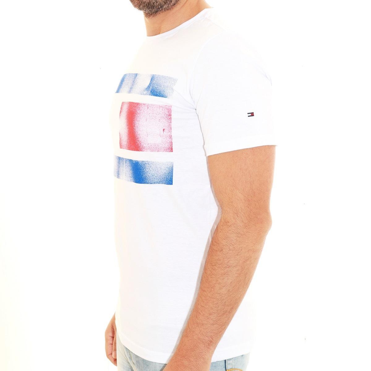 9e970ff3c camisa camiseta tommy hilfiger masc slim fit frança branco. Carregando zoom.