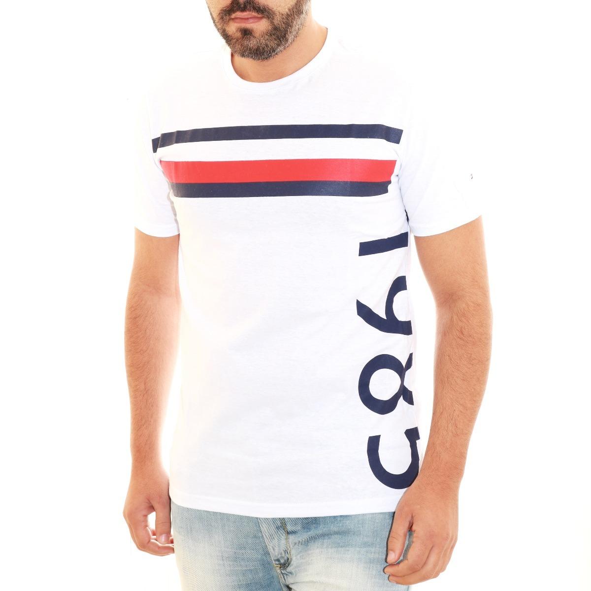 b25cb54d0 camisa camiseta tommy hilfiger masc slim frança 1985 branco. Carregando zoom .