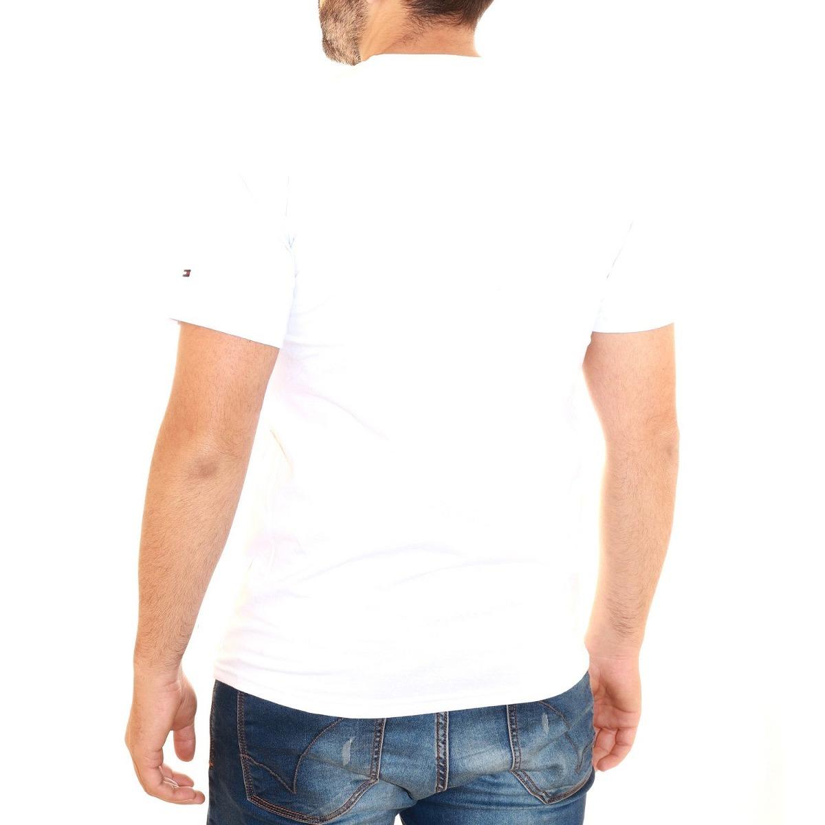96e9b02dd camisa camiseta tommy hilfiger masculina manhattan branco. Carregando zoom.