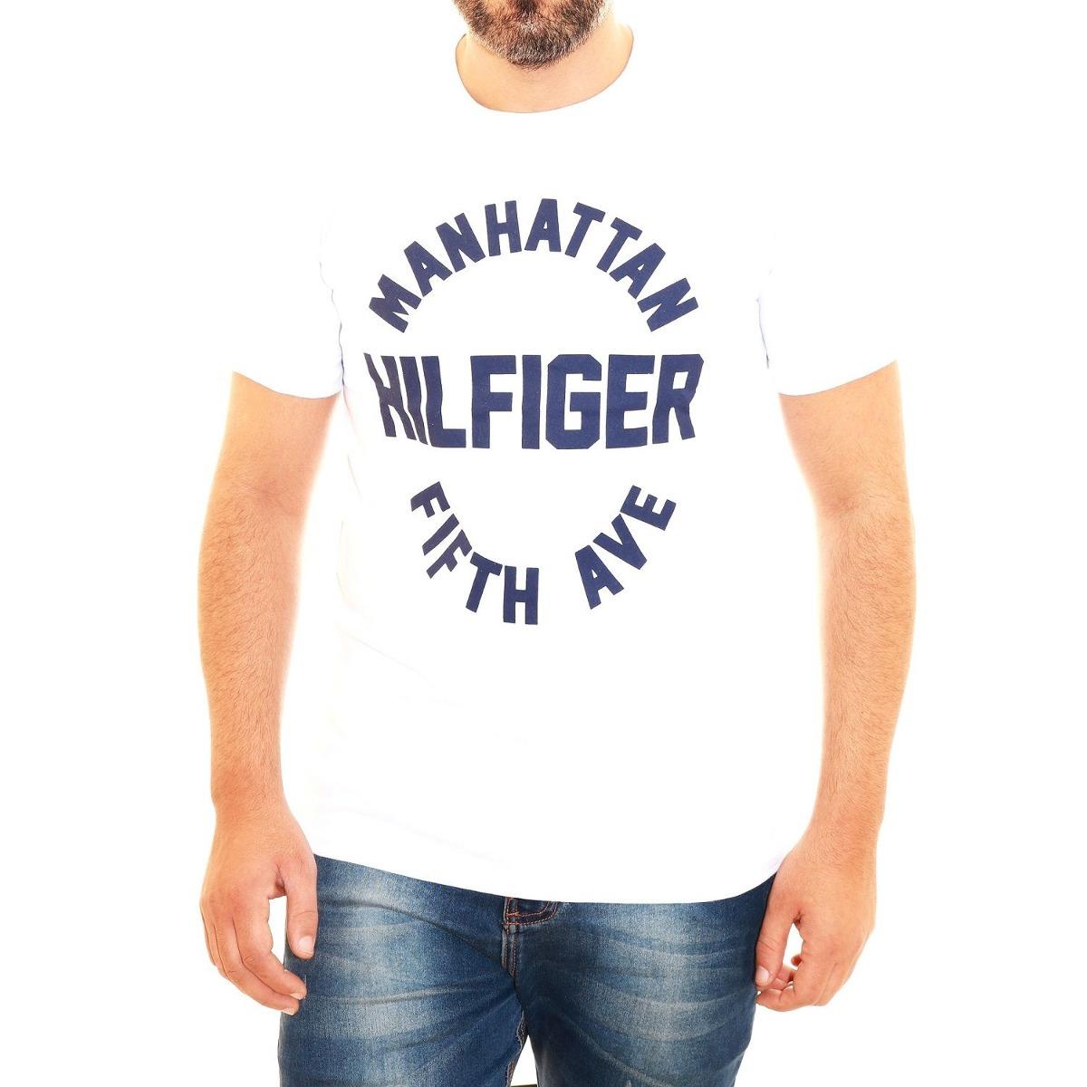 29d3a0454 camisa camiseta tommy hilfiger masculina manhattan branco. Carregando zoom.