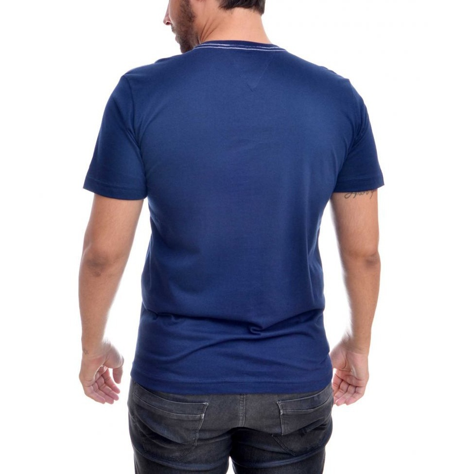 camisa camiseta tommy hilfiger masculina th 85 azul slim fit. Carregando  zoom. 7eafa7660da1f
