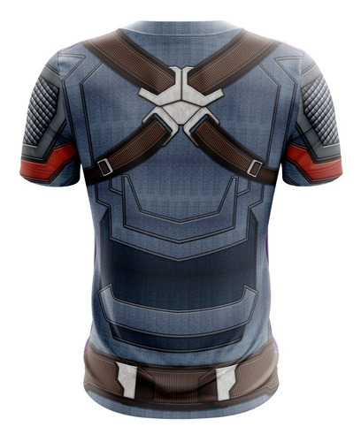 camisa camiseta traje capitão américa 3d vingadores ultimato