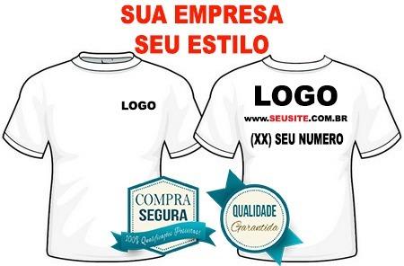 Camisa Camiseta Uniforme Logotipo Em Silkscreen Kit 10pçs - R  310 ... 38f45c5377bc5