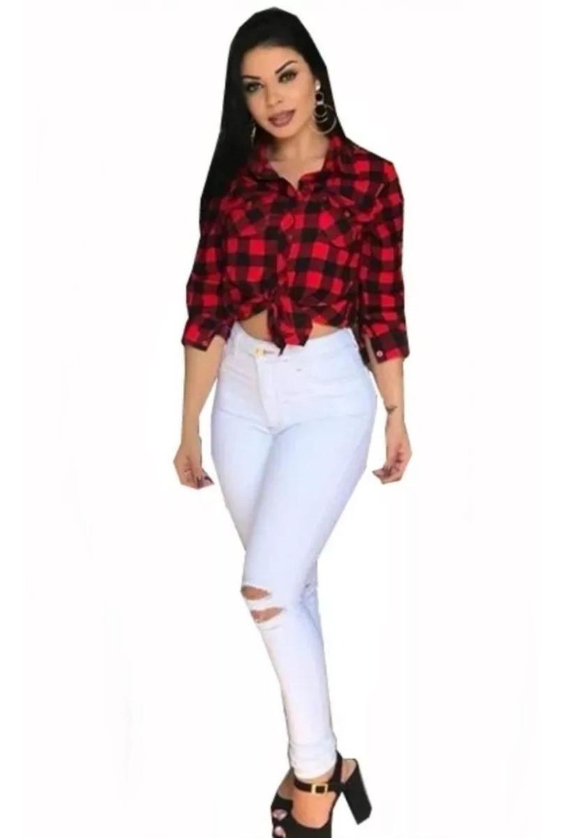 0e102268bf7e Camisa Camiseta Xadrez Feminina Viscose Blusa Inverno 2019 - R$ 39 ...